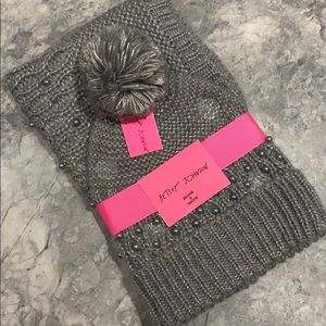 Betsy Johnson beanie and snood